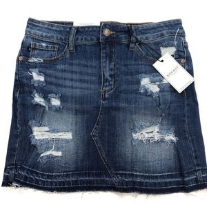 Judy Blue Destroyed denim skirt